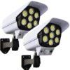 2бр. LED Соларна Лампа тип Камера с дистанционно 180W Мощност 77LED 1