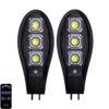 2бр. Соларна LED Лампа 600W IP65 със стойка и дистанционно 2