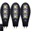3бр. Соларна LED Лампа 600W IP65 със стойки и дистанционно 2