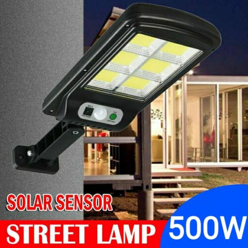 10 броя 500W LED Соларна лампа COB със сензор за движение, стойка и дистанционно 7