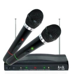 Комплект безжични микрофони с приемник 2 бр. K&K 306 6
