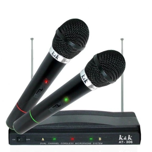 Комплект безжични микрофони с приемник 2 бр. K&K 306 4