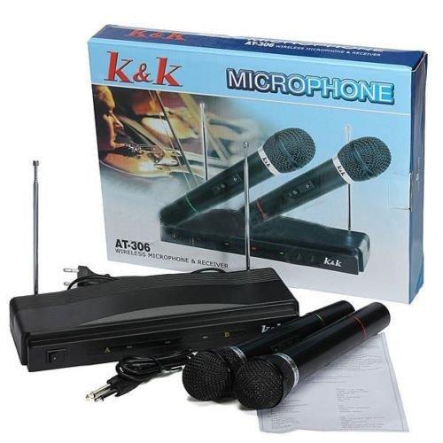 Комплект безжични микрофони с приемник 2 бр. K&K 306 3