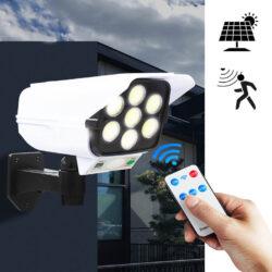 LED Соларна Лампа тип Камера с дистанционно 180W Мощност 77LED 10