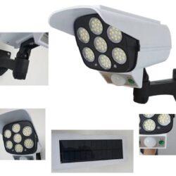 LED Соларна Лампа тип Камера с дистанционно 180W Мощност 77LED 13