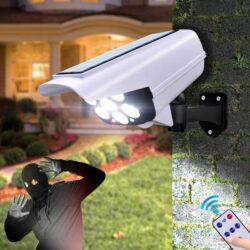 LED Соларна Лампа тип Камера с дистанционно 180W Мощност 77LED 11