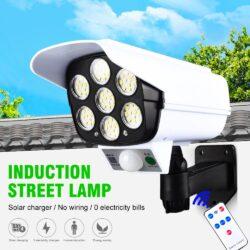 LED Соларна Лампа тип Камера с дистанционно 180W Мощност 77LED 9