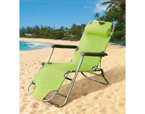 Сгъваем шезлонг/функционален стол за плаж, градина, къмпинг, риболов 3