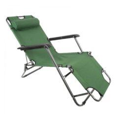 Сгъваем шезлонг/функционален стол за плаж, градина, къмпинг, риболов 7