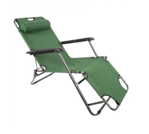 Сгъваем шезлонг/функционален стол за плаж, градина, къмпинг, риболов 5