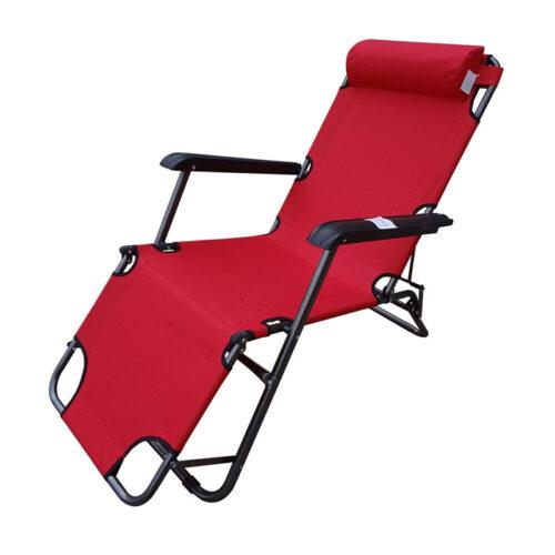 Сгъваем шезлонг/функционален стол за плаж, градина, къмпинг, риболов 4