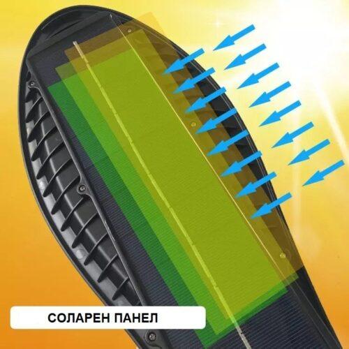 3бр. Соларна LED Лампа 600W IP65 със стойки и дистанционно 9