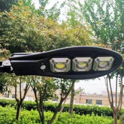 3бр. Соларна LED Лампа 600W IP65 със стойки и дистанционно 14
