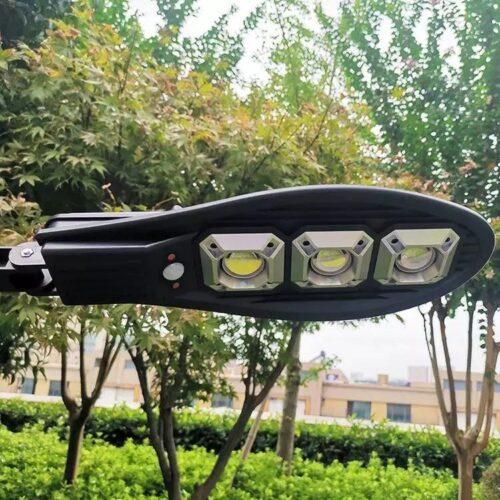 3бр. Соларна LED Лампа 600W IP65 със стойки и дистанционно 8