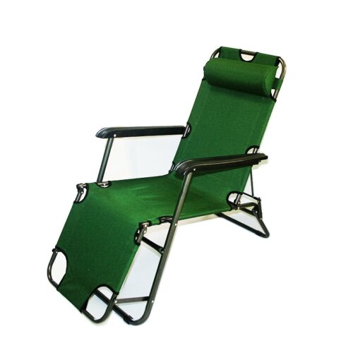 ПРОМО ПАКЕТ 2 бр. Сгъваем шезлонг/функционален стол за плаж, градина, къмпинг, риболов 3