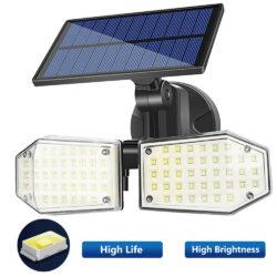 2 броя 78 LED 200W IP65 Устойчива външна сензорна лампа 7