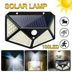 10 броя 100 LED 270 ° Влагоустойчива градинска соларна лампа 5