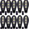 10бр. Соларна LED Лампа Cobra 600W IP65 + стойка за монтаж и дистанционно 2