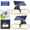 2 броя 78 LED 200W IP65 Устойчива външна сензорна лампа 1