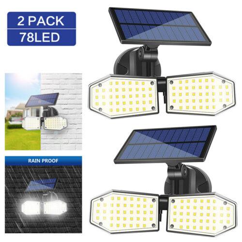 2 броя 78 LED 200W IP65 Устойчива външна сензорна лампа 3