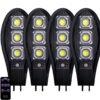 4бр. Соларна LED Лампа 600W IP65 + стойки за монтаж и дистанционни 1