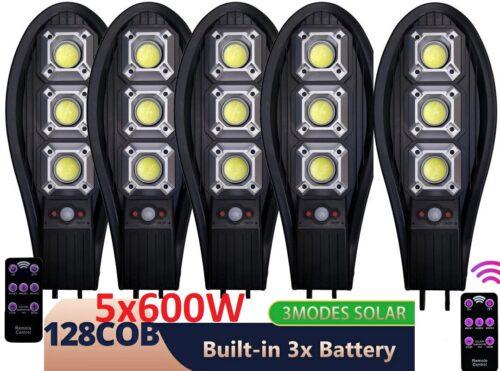 5бр. Соларна LED Лампа Cobra 600W IP65 + стойка за монтаж и дистанционно 3