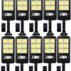 10 броя 500W LED Соларна лампа COB със сензор за движение, стойка и дистанционно 2