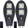 2 броя 300W Соларна лампа тип Cobra + стойка за монтаж + дистанционно 2