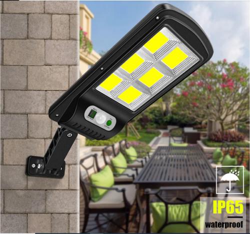 10 броя 500W LED Соларна лампа COB със сензор за движение, стойка и дистанционно 5