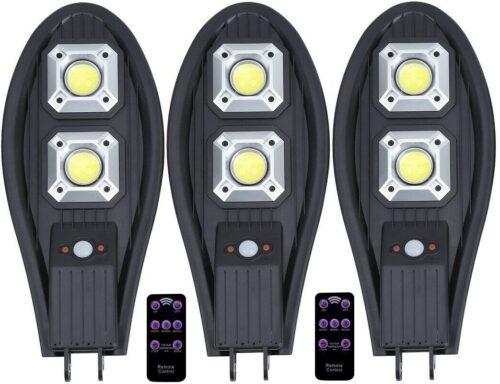 3 броя 300W Соларна лампа тип Cobra + стойка за монтаж + дистанционно 3