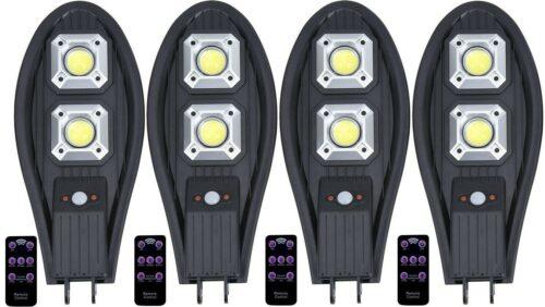 4бр. LED Соларна улична лампа 300W COBRA със сензор 3