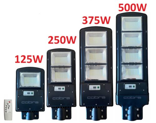 Соларна улична LED лампа COBRA 125/250/375/500W 3