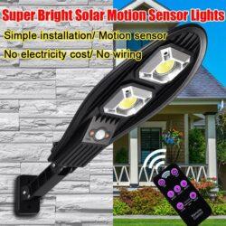 4бр. LED Соларна улична лампа 300W COBRA със сензор 7