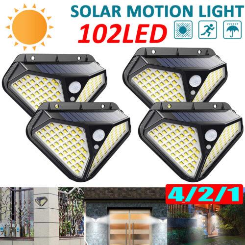 4 броя 102 LED Соларна лампа с 3 режима на осветеност! 3
