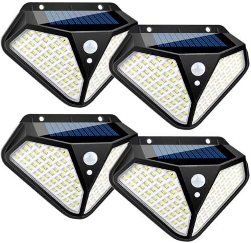 4 броя 102 LED Соларна лампа с 3 режима на осветеност! 4