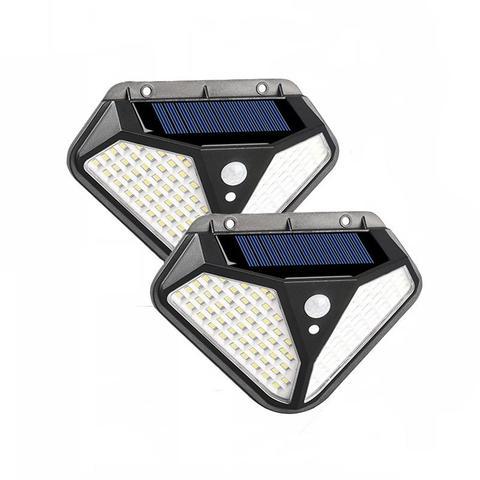 4 броя 102 LED Соларна лампа с 3 режима на осветеност! 6