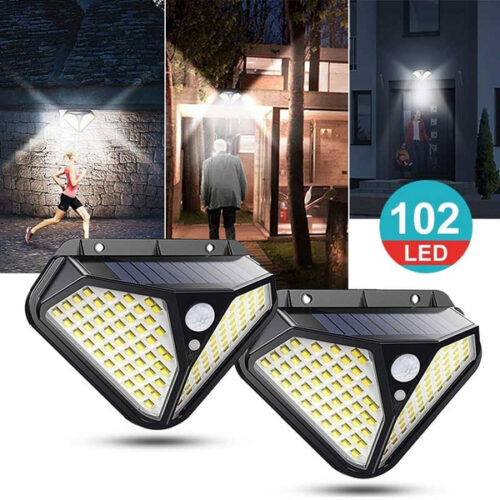 Промо! 2 броя 102 LED Соларна лампа с 3 режима на осветеност ! 3