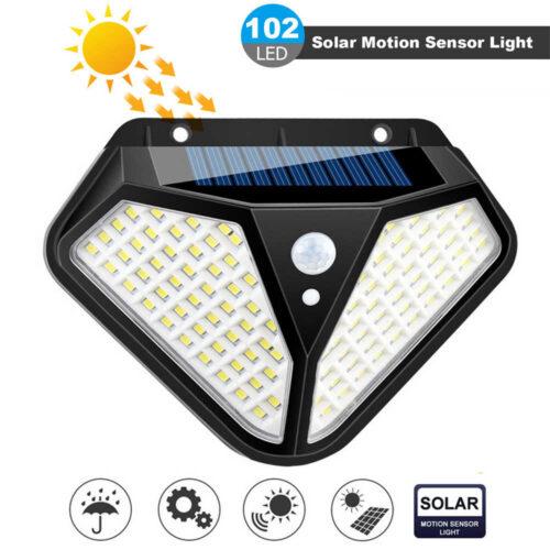 4 броя 102 LED Соларна лампа с 3 режима на осветеност! 7