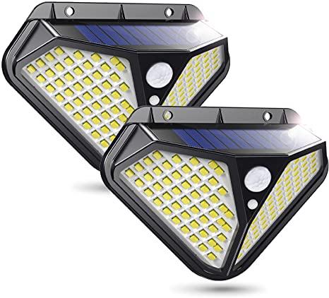 Промо! 2 броя 102 LED Соларна лампа с 3 режима на осветеност ! 4