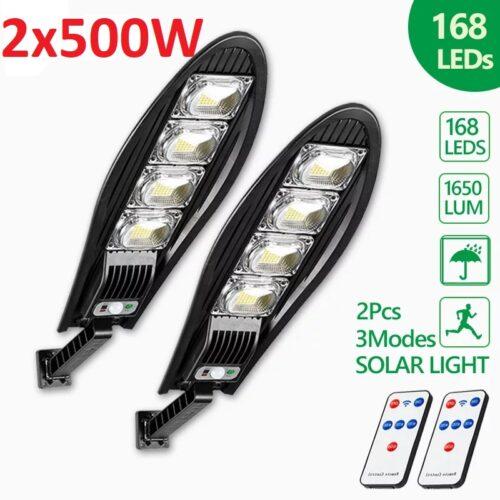 2 Броя LED Соларна улична лампа, 500W 3